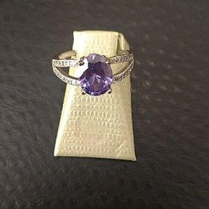 Gorgeous amethyst stone ring